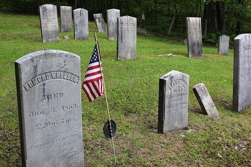 Patriotic, Civil War, Cemetery, Gravestone