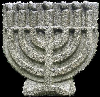 Candlestick, Siebenarmig, Sculpture, Menorah, Religion