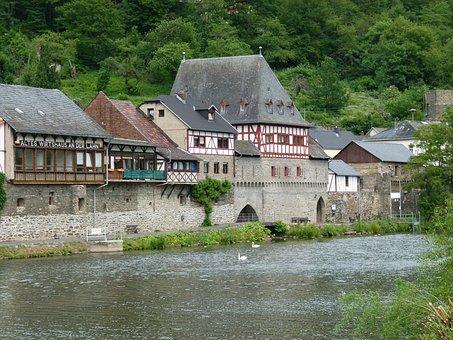 Lahn, Dausenau, The Lahn Valley, River, Landscape