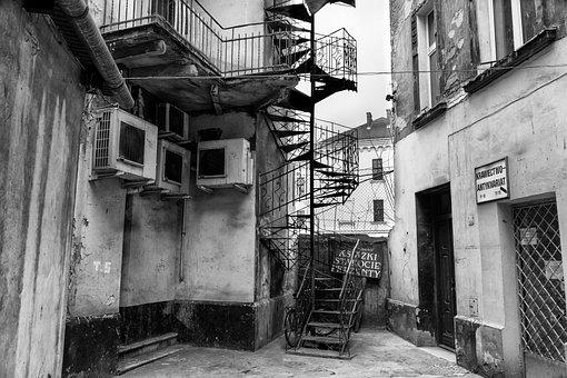 Kamienica, Kraków, Stairs, The Old Town, Backyard