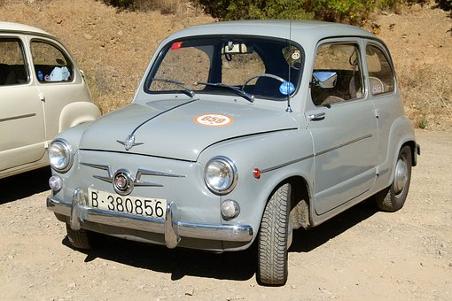 Seat 600, Antique Car, 60's, Six Hundred, Vintage, 600