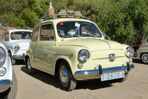 Seat 600, Vintage Car, 60's, Six Hundred, 600, Retro
