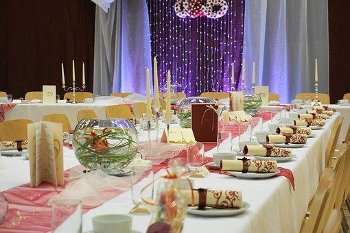 Wedding Feast, Fixed Table, Party, Table Decoration