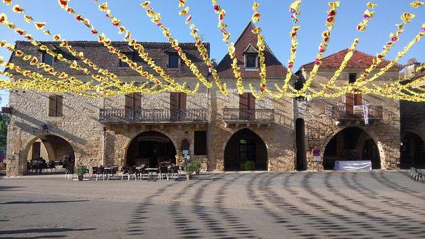 Village, Bastide, Southwest, France, Périgord, Dordogne