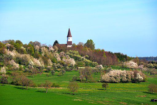 Chapel Of Kirchberg, Berg, Alsace, Orchard