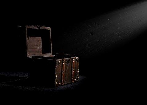 Box, Chest, Treasure Chest, Dark, Treasure, Open