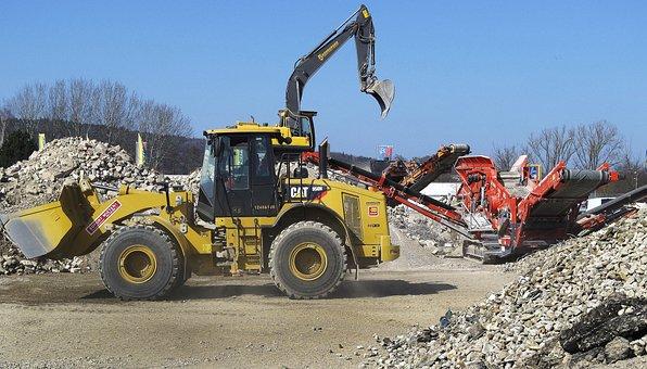 Wheel Loader, Building Rubble, Crusher, Excavators