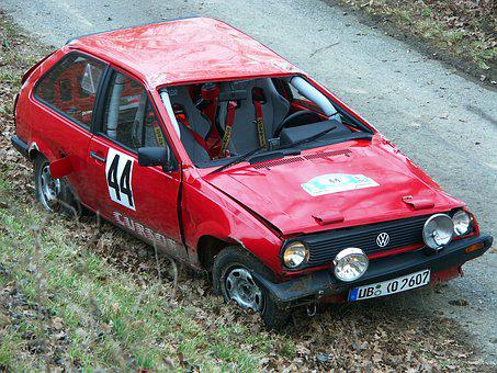 Accident, Rally, Auto, Damage, Total Damage