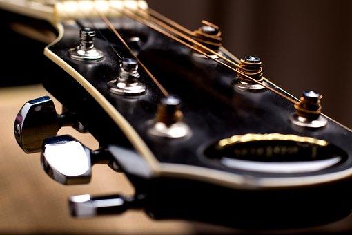 Guitar, Vulture, Strings, Large, Blur, Guitar Neck