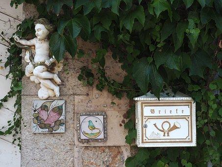 Art, Mailbox, Figure, Post, Metal, Letter Boxes