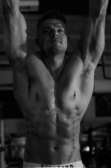 Model, Workout, Gym, Abs, Muscle, Male