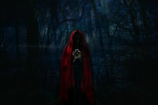 Woman, Dark, Design, Darkness, Mystical, Reddish, Black