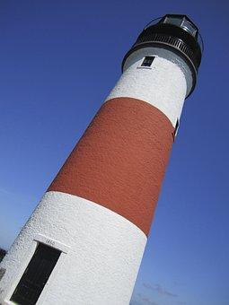 Lighthouse, Nantucket, Light, Landmark, Vacation