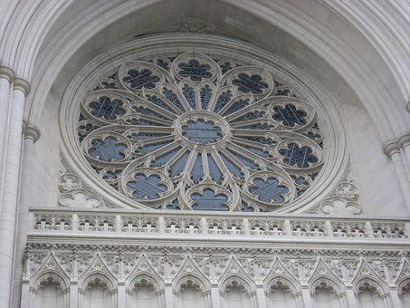 National Cathedral, Stained Glass, Architecture, Church