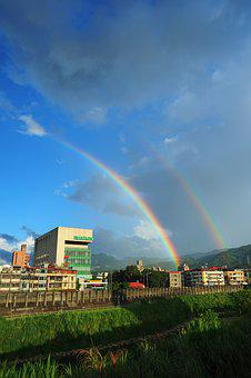 New Taipei City, The New Store Area, Rainbow, Sky