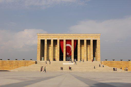Atatürk, Mausoleum, Relief, Wall Relief, Stairs, Turkey