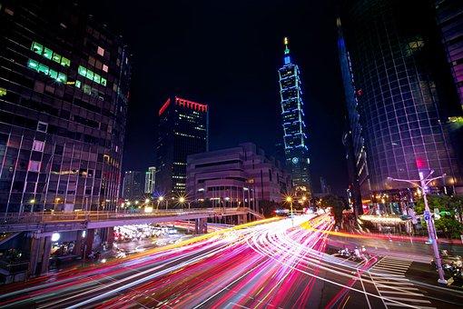 Taipei 101, Traffic, Taipei, Taiwan, Keelung Road