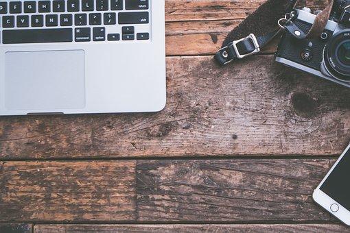 Background, Camera, Computer, Desk, Desktop, Iphone