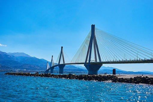 Greece, Architecture, Bridge, Building