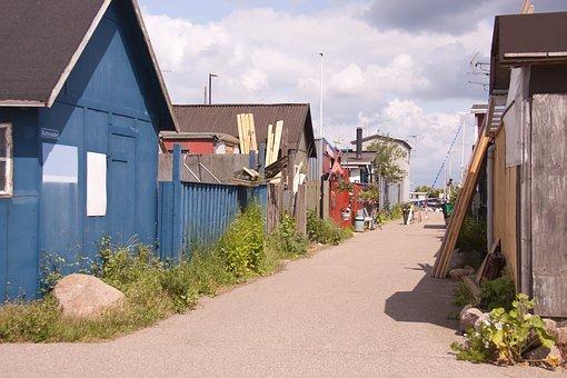 Skudehavnen, Spawn, Cabins, Houses, Copenhagen, Denmark