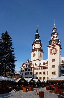Chemnitz, Saxony, Christmas Market, Town Hall