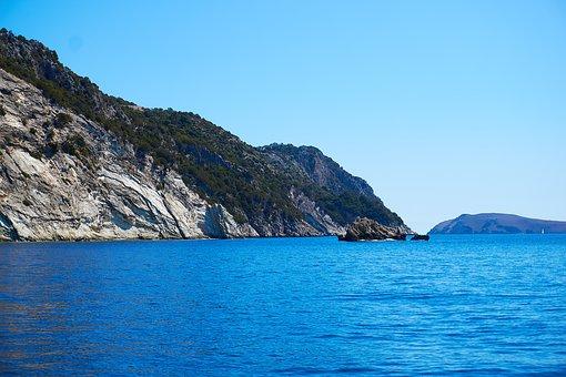 Greece, Mediterranean, Island, Cliff, Stone, Coast