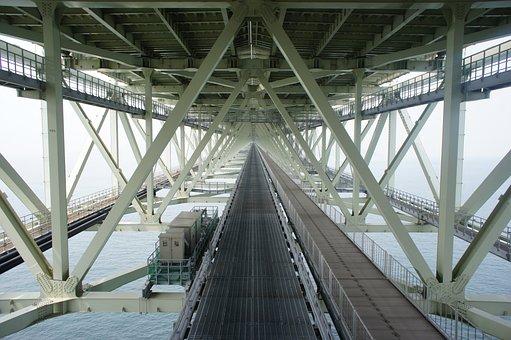 Akashi Kaikyo Bridge, Awaji Island, Kobe, Drawbridge
