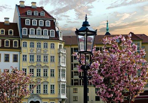 Germany, Dresden, Saxony, Architecture