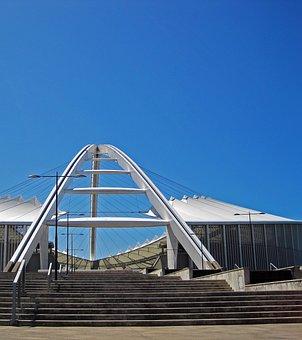 Stadium, Moses Mabhida, Sport Arena, Venue, Entrance