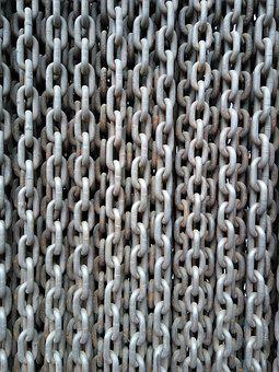 Chains, Metal, Iron, Closed, Texture, Giant Links