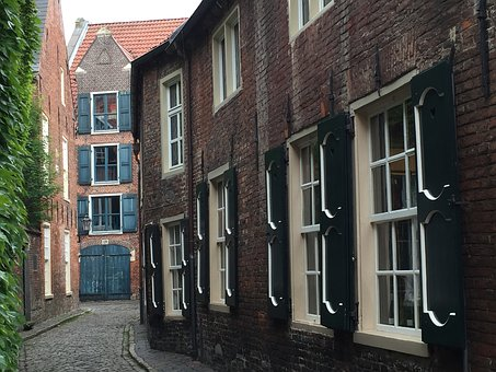 Empty, Historic Center, Old Town Lane, Alley