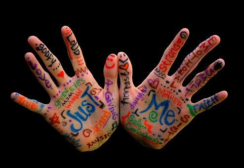 Hands, Words, Importance, Finger, Expression, Colorful
