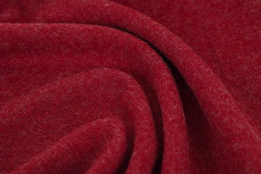 Red, Fabric, Textile, Macro, Detail, Cotton, Design