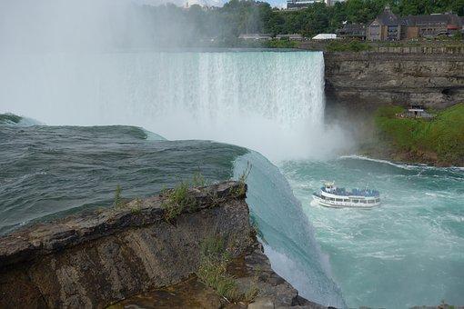 Niagara Falls, Niagara, Waterfall, Usa, Water Power