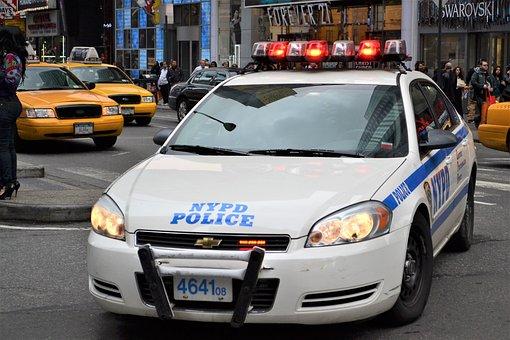 Police Car, Nypd, Manhattan, Police, Car, Cop, City