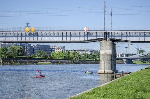 River, Bridge, Water, Nature, Wisla, Kraków