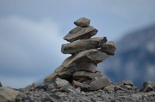 Inukshuk, Rocks, Stacked, Stone, Native, Landmark