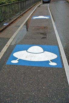 Parking, Ufo, Alien, Schwetzingen