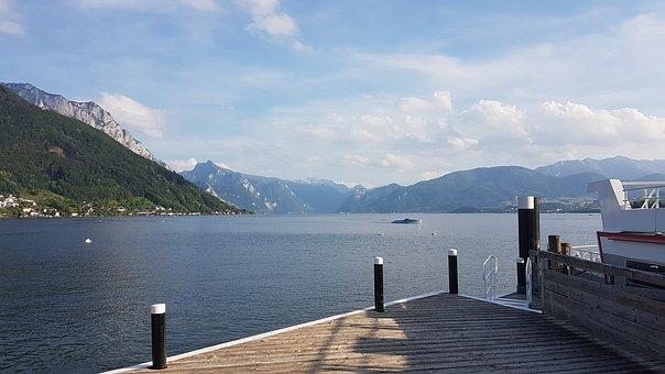 Traunsee, Salzkammergut, Traunstein, Lake, Mountains