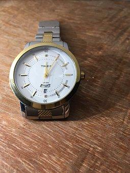 Timex, Watch, Wristwatch, Hour, Minute, Stainless