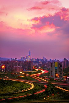 Xizhi, Taipei, Taiwan, The Evening Sun, Sky