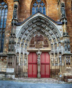 Portal, Church, Input, Door, Architecture, Historically