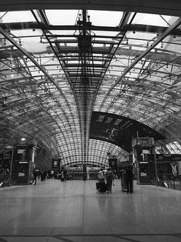 Frankfurt, Train, Germany, Architecture