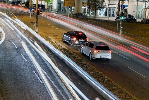 Traffic, Road, Traffic Lights, Long Exposure, Autos