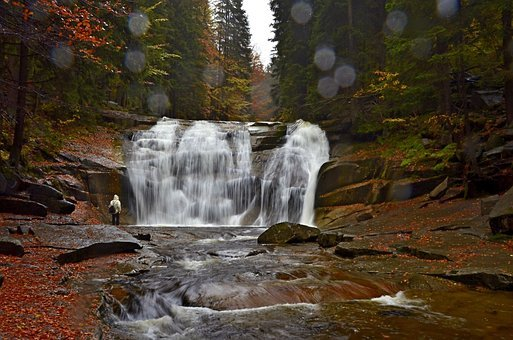 Czech Republic, Autumn, Waterfall Of Mumlava