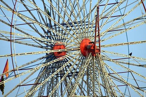 Giant Spokes, Giant Wheel Frame, Big Spokes