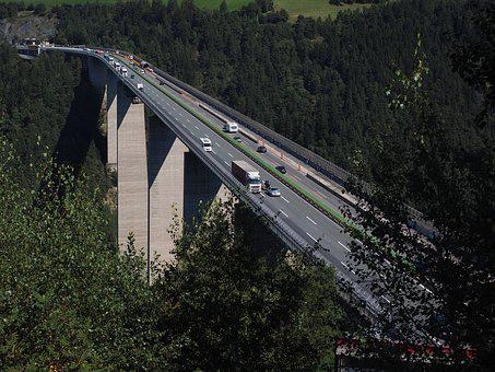 Europe Bridge, Bridge, Highway Bridge, Car Bridge