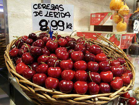 Cherries, La Bouqeria, Market, Barcelona, Spain
