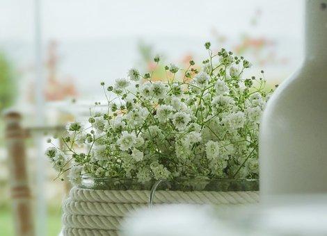 Flowers, Diner, Restaurant, Floral, Decorative, Love