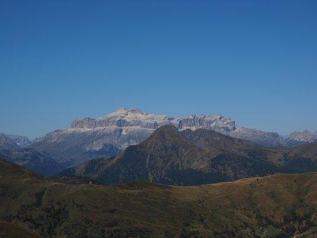 Piz Boe, Col Di Lana, View, Distant View, Passo Giau